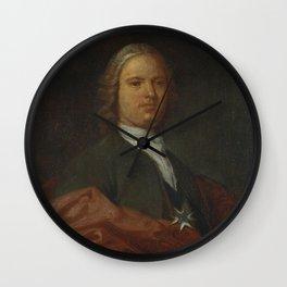 Antoni Viladomat - Portrait of a Knight of the Order of Saint John (1730s) Wall Clock