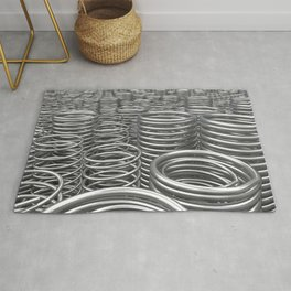 Pile of metal springs and coils Rug
