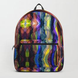 Hand Painted Waves Backpack