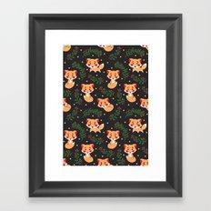The Fox Pattern Framed Art Print
