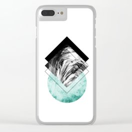 Geometric Composition 2 Clear iPhone Case