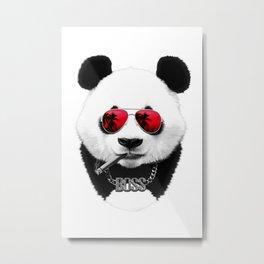 Panda Boss Metal Print