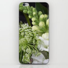 White Wildflowers iPhone Skin