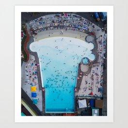 Wild Waves Wave Pool Art Print