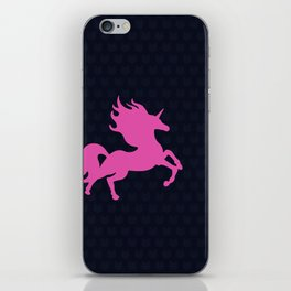 Visible Invisible Pink Unicorn iPhone Skin