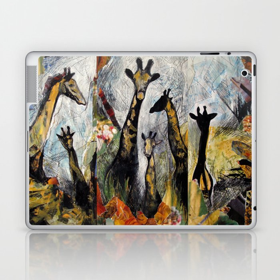 Collage with giraffes Laptop & iPad Skin