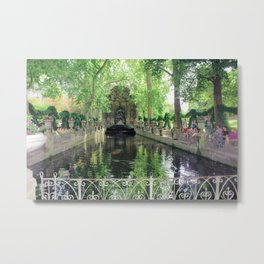 Fountain at Luxembourg Metal Print
