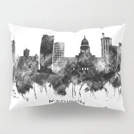 Madison Wisconsin Skyline BW Pillow Sham