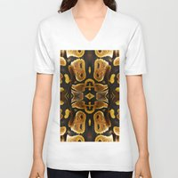 monty python V-neck T-shirts featuring Ball Python by Moody Muse