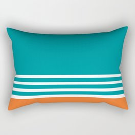 Miami Football Florida Sports Aqua Orange Rectangular Pillow