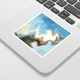 Hair Puzzle: digital abstract art Sticker