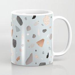 Terrazzo Stone Confetti blue Coffee Mug