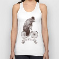 bicycles Tank Tops featuring Bears on Bicycles by Eric Fan