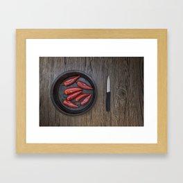 Love Peppers Framed Art Print