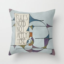 Rules Throw Pillow