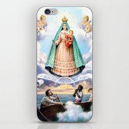 Virgen de N.S. de La Caridad del Cobre (Patrona de de la Isla de Cuba) iPhone Skin
