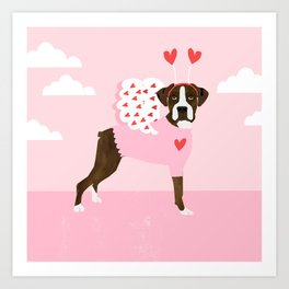 Boxer, love bug, valentines day, gifts for dog lover, must have, boxers , dog, dogs, pet, pets, dog Art Print
