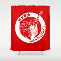 ramen Shower Curtains featuring This Is My Ramen Shirt (Large Print for Hoodies) by Bouké
