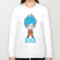 goku Long Sleeve T-shirts featuring Goku SSGSS by LoonyLand