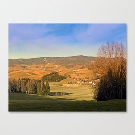 Peaceful panorama with warm colors | landscape photography Canvas Print