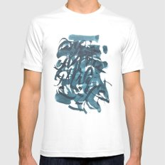 Abstarct calligraphy #1 MEDIUM White Mens Fitted Tee