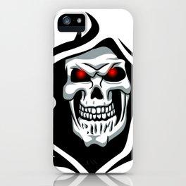 Skull tribal tattoo iPhone Case