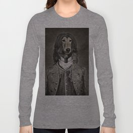 Afghan hound wearing a Louis XIV suit Long Sleeve T-shirt