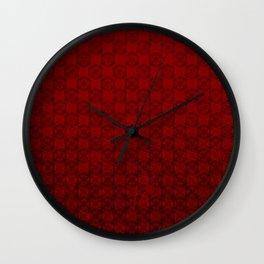 D20 Abyssal Crit Pattern Premium Wall Clock