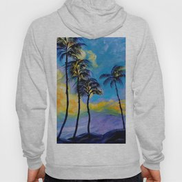Moon over Palm Trees Hoody