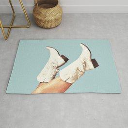 These Boots - Blue Rug