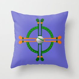 Hurley and Ball Celtic Cross Design - Solid colour background Throw Pillow