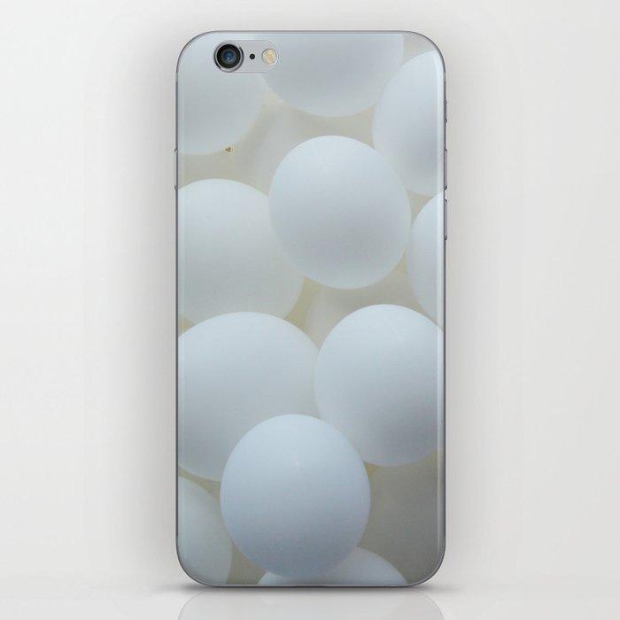 white balloons iPhone Skin