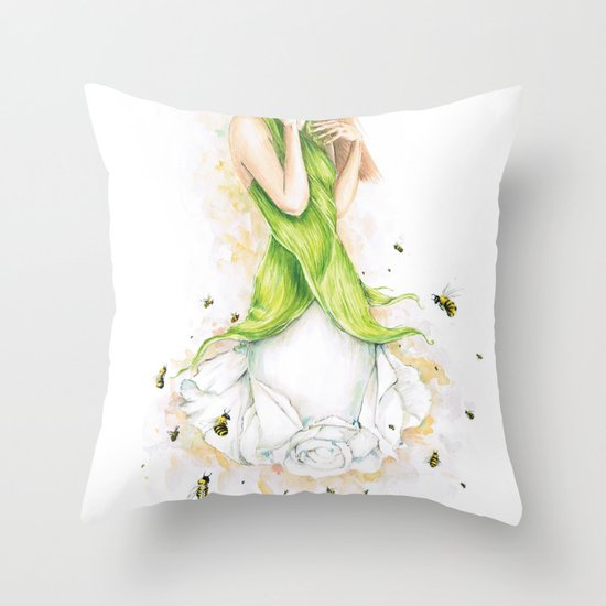 Petite fleur / Little Flower Throw Pillow