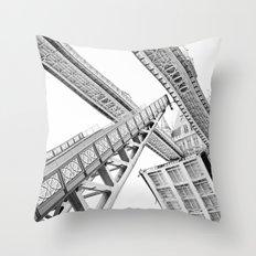 Tower Bridge 02C - Going Up (Grey) Throw Pillow