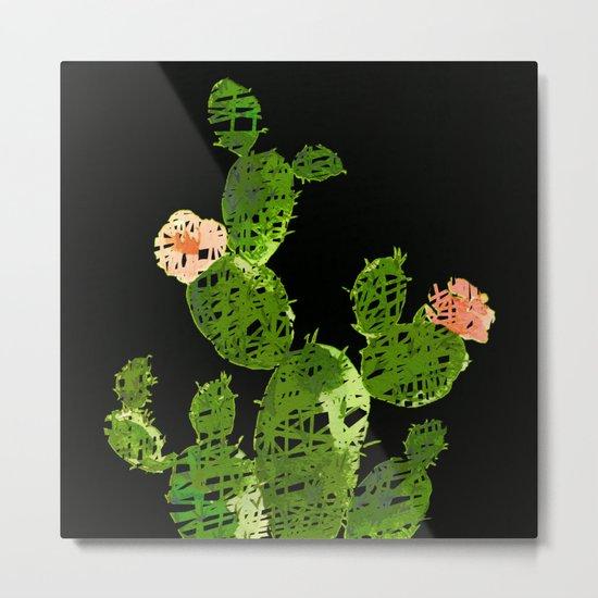 weird cactus black version Metal Print
