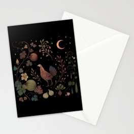 Wild Chicken with Autumn Vines Stationery Cards