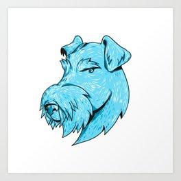 Bingley Terrier Head Drawing Art Print