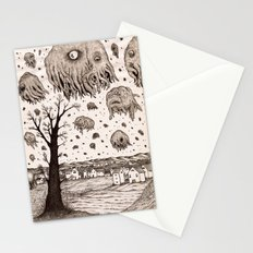 They came from the sky Stationery Cards