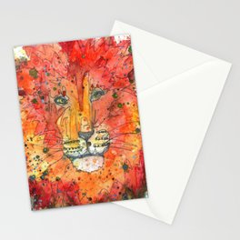 Cosmic Lion Stationery Cards