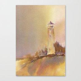 A golden, Crisp Point Canvas Print