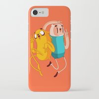 finn and jake iPhone & iPod Cases featuring Finn & Jake by Daniel Mackey