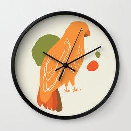 Quirky Australian King Parrot Wall Clock