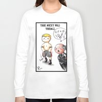 wwe Long Sleeve T-shirts featuring WWE Chibi - Brock Lesnar and Paul Heyman by Furiarossa