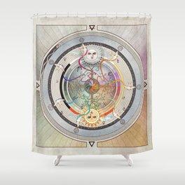 67000 mph, all systems go- a medicine wheel Shower Curtain