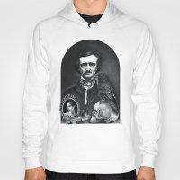 edgar allan poe Hoodies featuring Edgar Allan Poe Portrait by Eeriette
