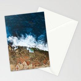 An aerial shot of the Salt Pans in Marsaskala Malta Stationery Cards