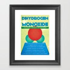 Dihydrogen Monoxide Framed Art Print