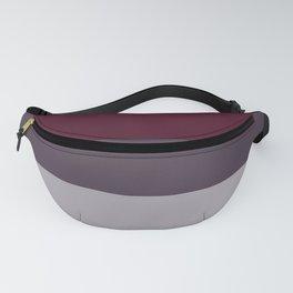 scandinavian moody winter fashion dark red plum burgundy grey stripe Fanny Pack