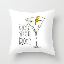 Martini Mood Throw Pillow