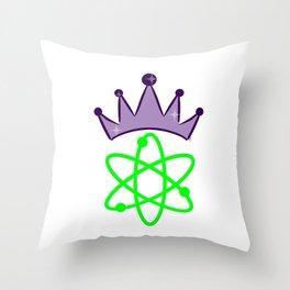 SMART Science Queen - Science Princess Throw Pillow